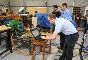 Measurements on a new type of electronically controlled motor