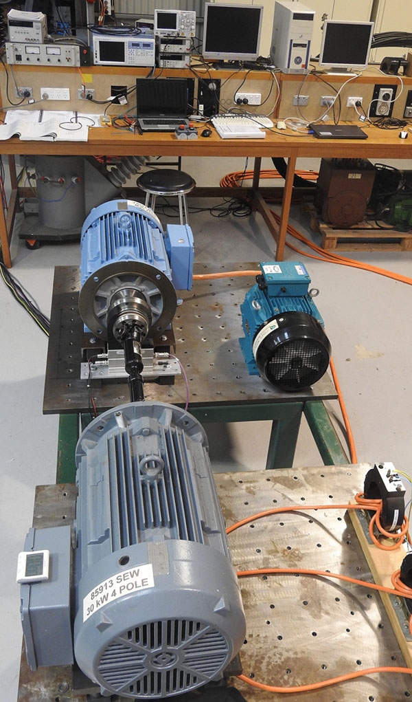 5.5 kW/30 kW motor efficiency test bed