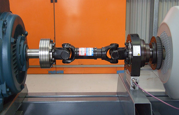2000 Nm torque transducer and Cardan shaft coupling