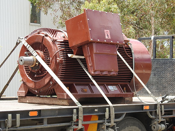 High voltage motor delivered and tested on a truck