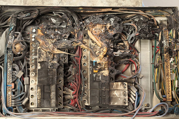 Low voltage distribution switchboard failure