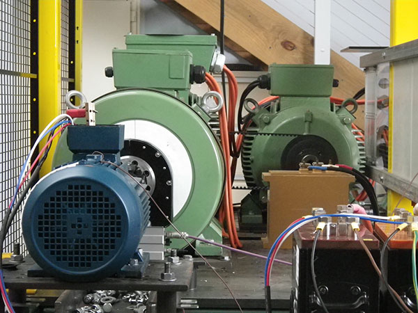 55 kW motor efficiency test bed