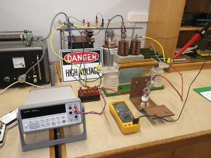 High voltage leakage tests on rectifier diodes