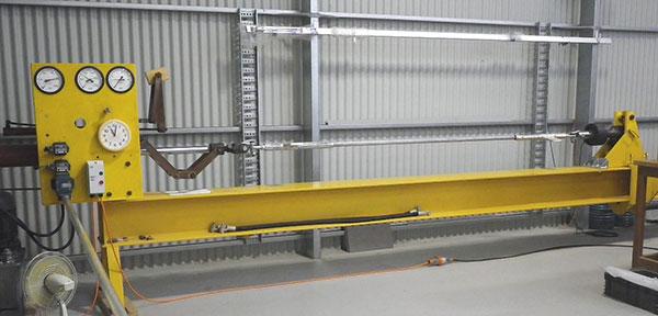 6 metre, 250 kN horizontal tensile testing machine